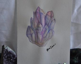 Aura Crystal // Watercolor Sketch