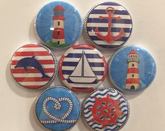 Nautical Magnets - set of 7