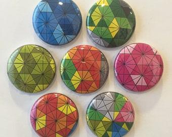 Geometric Art Magnets - set of 7