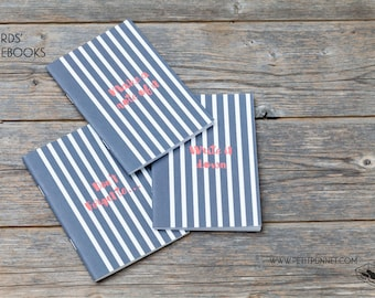 Set of 3 Pocket Notebooks: 'Words' Notebooks