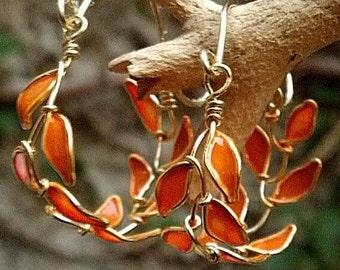 Erzulie leaf hoop