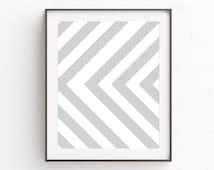 Minimalist Decor, Contemporary Art, Geometrical Wall Prints, Gray and White Wall Decor, Scandinavian Art, Wall Decor, Modern Printables