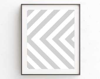 Neutral Print Art | Gray White Print Art | Contemporary Art