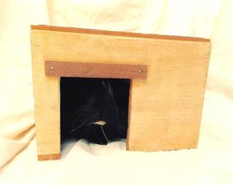 Guinea Pig Handmade House Exotic Hardwood Cavy Hut The Shack SKU H22S