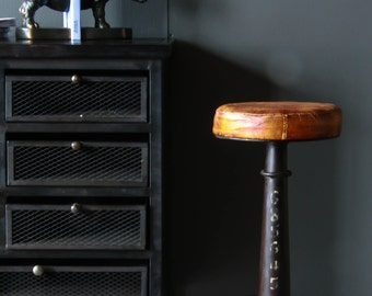 Industrial Singer Bar Stool Cast Iron Base