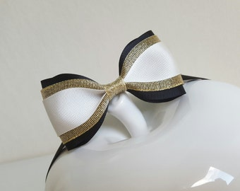 Great Gatsby bow tie/black white gold bow tie/Great Gatsby party/roaring 20s/vintage inspired/men bow tie/lady women bow tie/boys bow tie