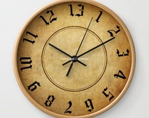 Labyrinth 13 Hour Wall Clock, You Choose Frame & Hand Colors!