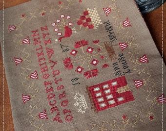 Ann Louise Wright, 1887 / Primitive cross stitch pattern