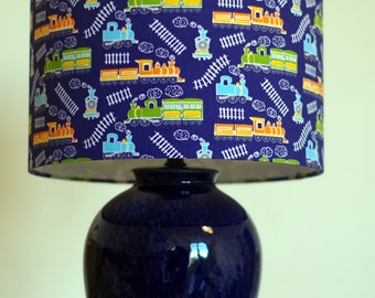 Handmade Train Lampshade