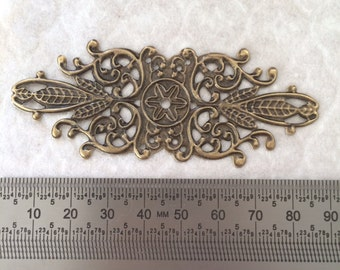 Bronze Tone Filigree Embellishments