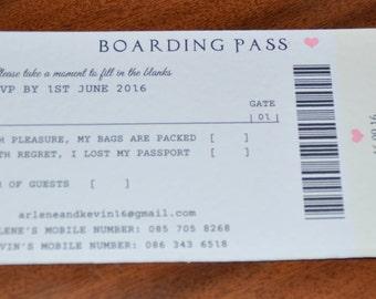 RSVP - Boarding Pass - Passport Style Invitation