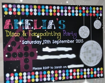 Disco Party, Invitation, Disco Party Invitation, Birthday, Party, Disco, Invite, Dance Party, Disco Invitation, Dance Invitation, Disco Ball
