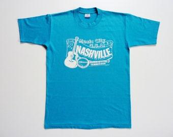 Vintage 80's Tee-Shirt Nashville Music City