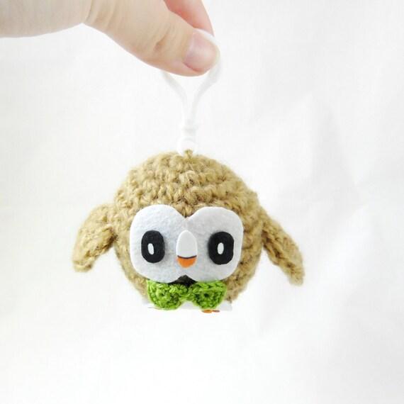 Rowlet Amigurumi Pokemon Chibi Crochet Plush