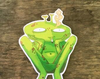 Henry Alien - one vinyl sticker