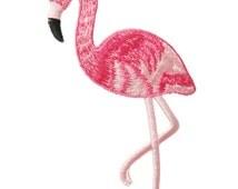 Bird Flamingo Animal Applique Embroidered Iron On Patch
