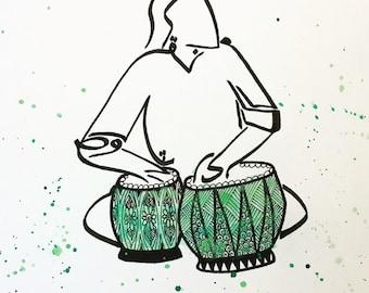 Tabla Player painting