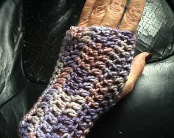 purple camo fingerless handwarmers