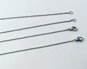UPGRADE: Stainless steel necklace chain upgrade / 18 inch stainless steel chain / hypoallergenic