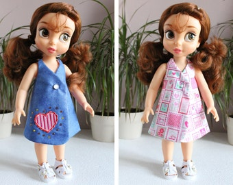 "Dress reversible ""Claire"" for doll Animator"