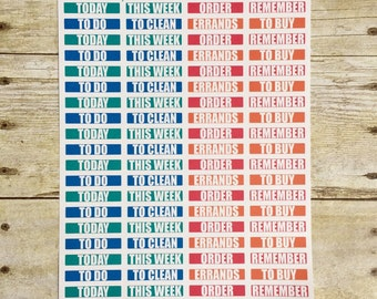 Planner Stickers Brights MDN Headers for Reminders and To Do's F260