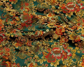 Jacquard Damask Fabric Floral Flower Pattern - 20 inches long X 29,5 inches wide