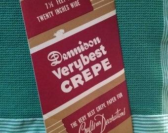 Vintage Crepe Paper Red Colour Dennison Brand Original Package