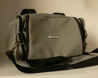Vintage Miranda Grey Camera Bag / Small Holdall / Man Bag / Shoulder Bag