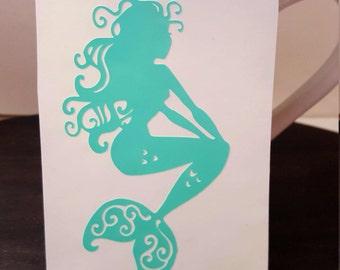 Mermaid Decals Etsy - Car sticker decals vinyl