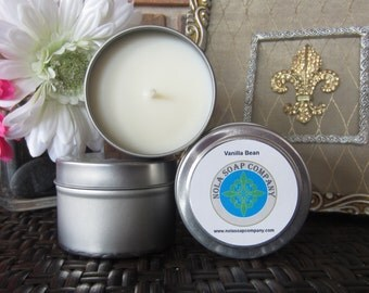 Gingerbread Spice Scented Soy Travel Candle 4 oz Metal Tin