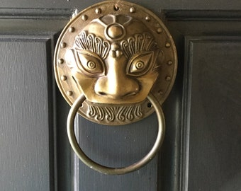 Bronze Chinese Lion Door Knocker