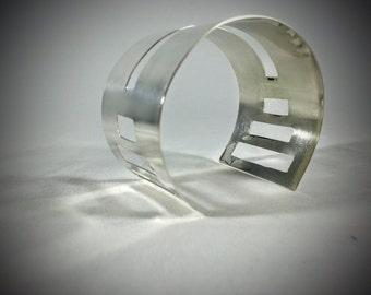 Geometric Sterling Silver Bracelet ©