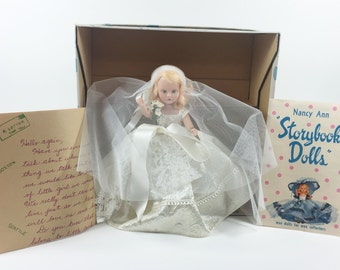 SALE, WAS 25 now 19! Nancy Ann Storybook Doll Bride with Veil. Orange Blossom #301.