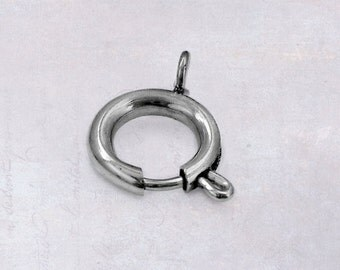 5 x Stainless Steel 10mm Round Spring Ring Clasps
