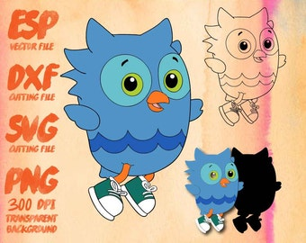 Daniel Tiger's Neighborhood O the Owl , SVG Cutting , ESP Vectors files , T shirt , iron on , sticker ,Personal Use