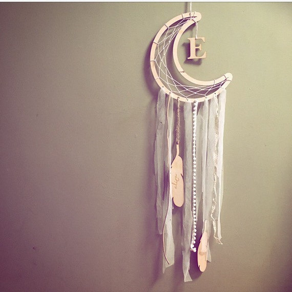 Dreamcatcher baby gift baby mobile personalised - Selbstgemachte mobel ...