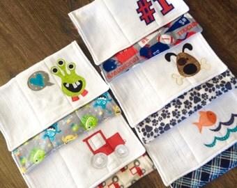 Set of 5 Burp Cloths