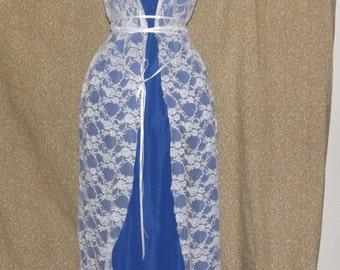 Blue fantasy dress