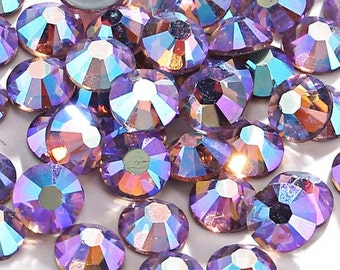 Light Purple AB Crystal Glass Rhinestones - SS20, 1440 pieces - 5mm Flatback, Round, Loose Bling