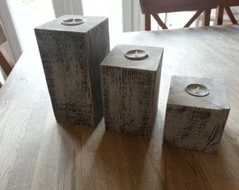 Set of 3 Candle Blocks