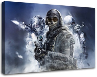 Call of Duty Modern Warfare, Modern painting, wall art, modern art, stretched Canvas Prints,