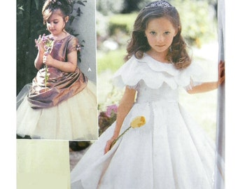 2004 Simplicity 5216 Belle of the Ball Child's Formal, Bridesmaid, Special Occasion Dress, Uncut, Factory Folded Sewing Pattern Size 3-6