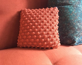 Coral Corcheted Throw Pillow