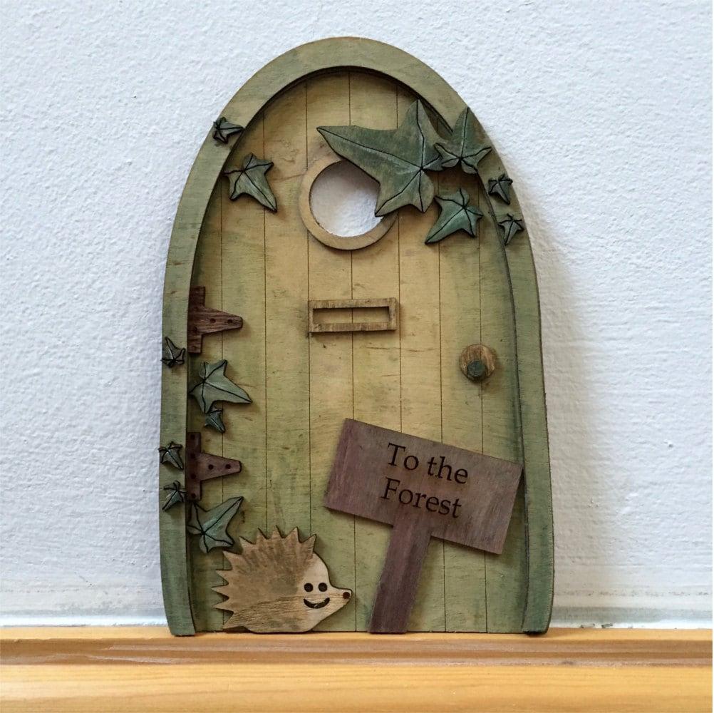 Handmade fairy door personalised fairy door all hand painted for Painted fairy doors