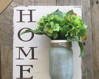Home mason Jar flower holder