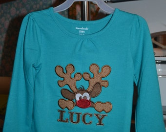 Boys t shirt, Girls t shirt, Christmas shirt, Holiday shirt, Reindeer personalized shirt, Boys t shirts, Girls t shirts