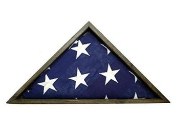 "BarnwoodUSA Rustic Wooden Burial Flag Display Box 5x9.5"", Flag Memorial Holder"