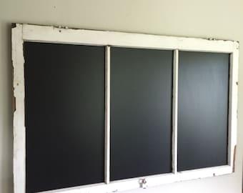 Large Framed Wood Window Chalkboard Wedding Chalk Board Menu Chalkboard Seating Chart Restaurant Cafe Board