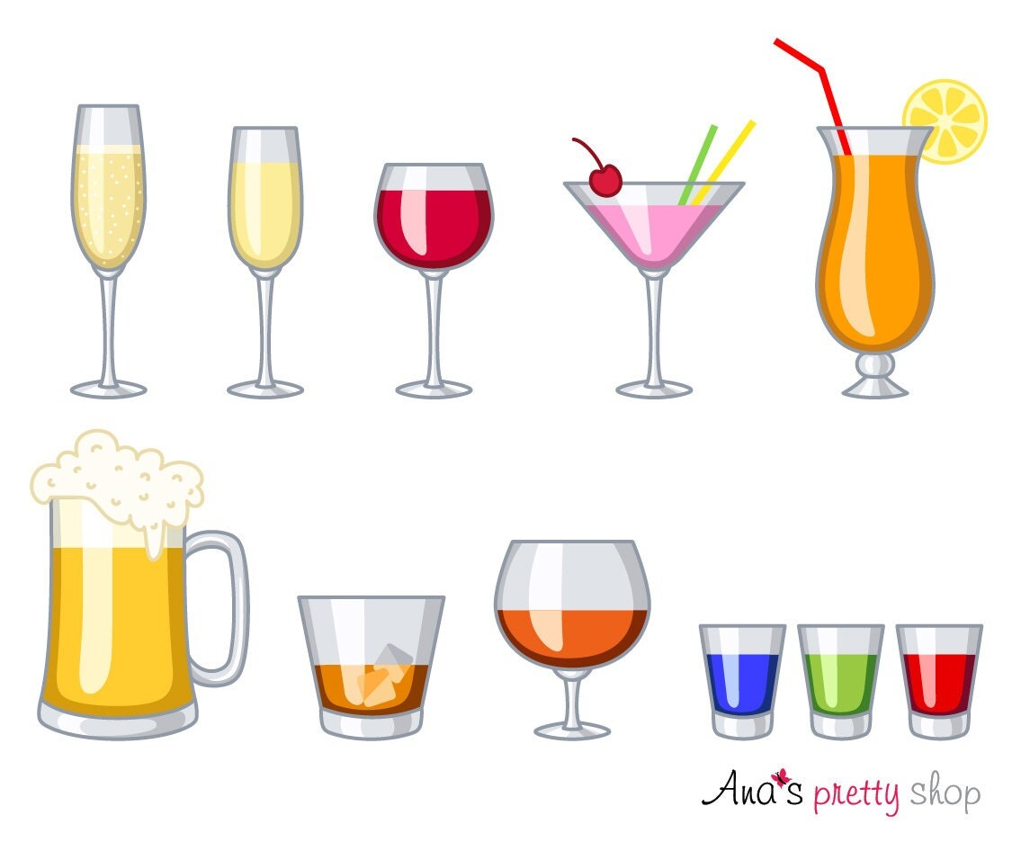 Cocktail clipart | Etsy
