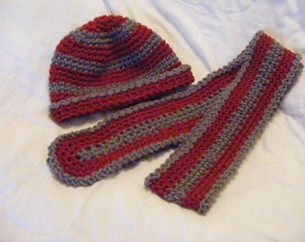Women's Crochted Hat and Scarf